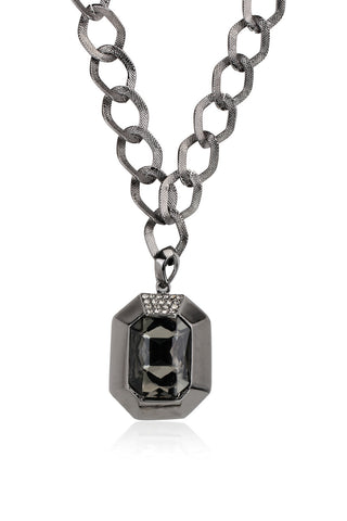 Svvelte Black Chain Pendant with Swarovski with a unique design, Women Chain and Pendant, Svvelte - Svvelte