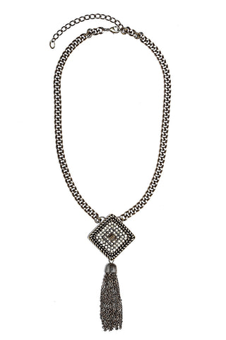 Buy Women Chain and Pendant, Named Svvelte Antique Finish Chain with Diamond Shape Swarovksi pendant, from Svvelte, for Rs. 29.99