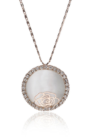 Svvelte Rose Gold Toned Pendant with Chain, Women Chain and Pendant, Svvelte - Svvelte