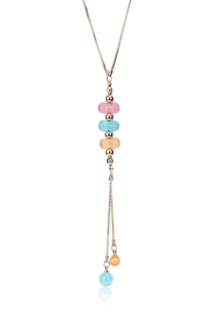 Svvelte Unique Multicoloured Chain with Pendant, Women Chain and Pendant, Svvelte - Svvelte