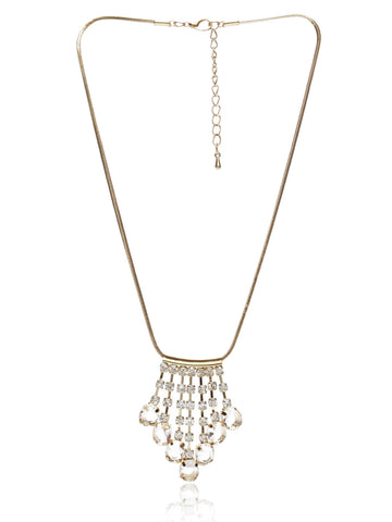 Svvelte Gold Toned Chain with Hanging pendants, Women Chain and Pendant, Svvelte - Svvelte
