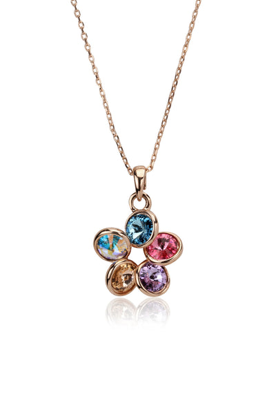 Svvelte Multicoloured Floral Chain with Pendant, Women Chain and Pendant, Svvelte - Svvelte