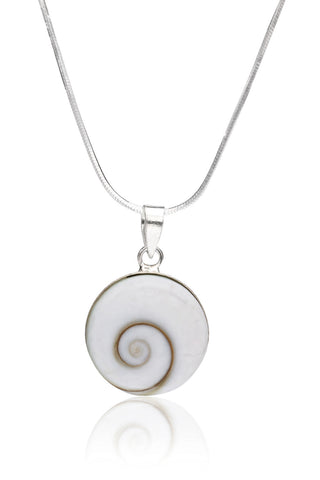 Svvelte Silver & White Pendant With Chain, Women Chain and Pendant, Svvelte - Svvelte