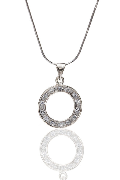 Svvelte Italian Silver Pendant With Chain, Women Chain and Pendant, Svvelte - Svvelte