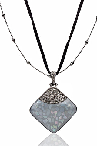 Buy Women Chain and Pendant, Named Svvelte Black and Grey Necklace, from Svvelte, for Rs. 34.49