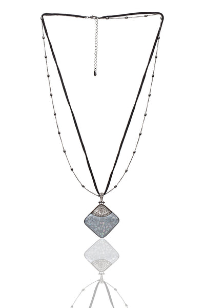 Svvelte Black and Grey Necklace, Women Chain and Pendant, Svvelte - Svvelte