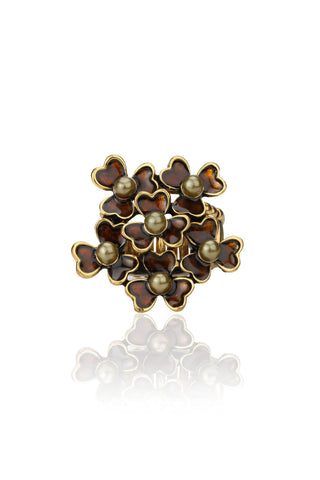 Svvelte Antique Gold & Brown Ring, Women Ring, Svvelte - Svvelte
