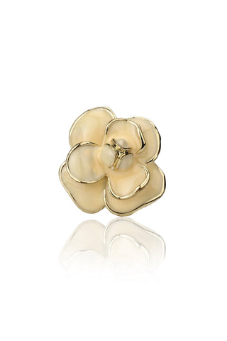 Svvelte Women Beige Flower Ring, Women Ring, Svvelte - Svvelte