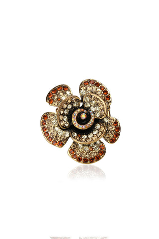Svvelte Floral Ring with Swarovski, Women Ring, Svvelte - Svvelte