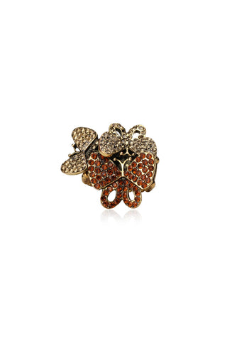 Svvelte Butterfly Ring with Swarovski, Women Ring, Svvelte - Svvelte