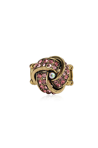 Svvelte Knot Designed Ring with Swarovski, Women Ring, Svvelte - Svvelte