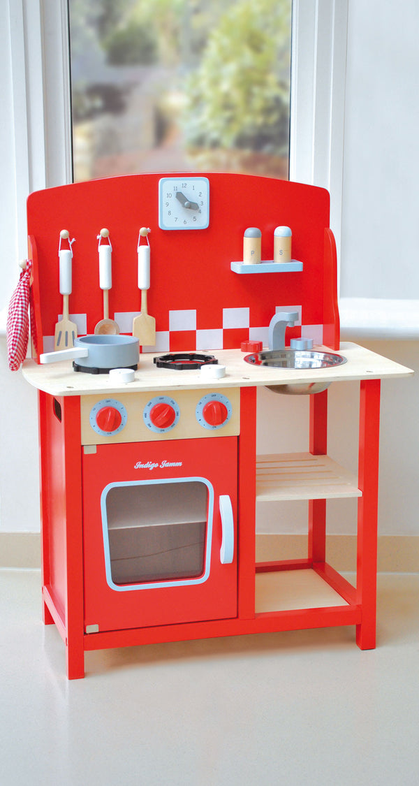 Kitchenette Diner Wooden Toy Play Kitchen Imaginative Play