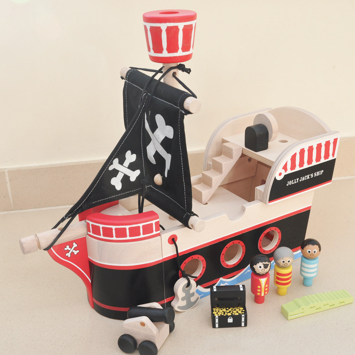 Jolly Jack S Wooden Pirate Ship