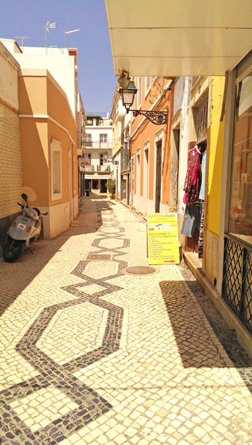 typical Olhao lane, Olhao, Algarve District, Portugal