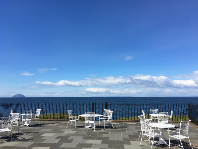 Breathtaking views of Ailsa Craig and the sea, Turnberry, Ayrshire, Scotland