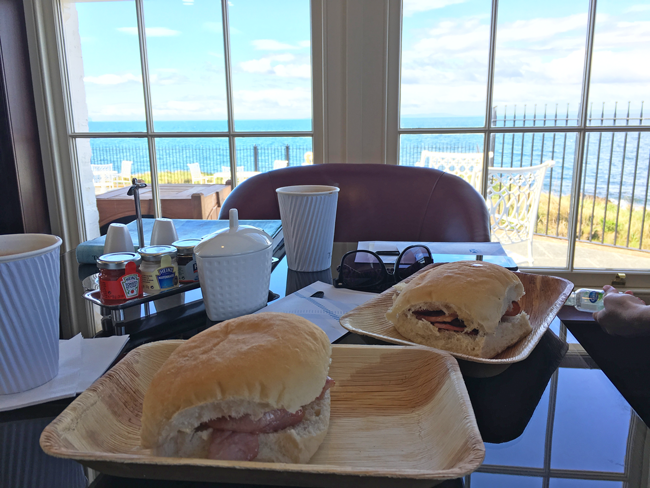 Posh rolls and a view