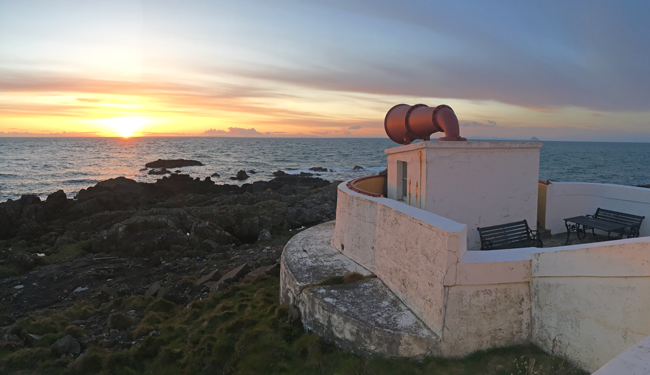 Foghorn at Corsewall lighthouse, Stranraer, Ayshire, Scotland