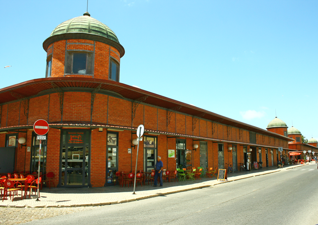 The iconic fish market, built in 1915 and designed by Gustav Eiffell, Olhao, Algarve District, Portugal
