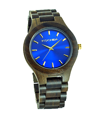 Egyptian Blue Laro sandal Wood watch front