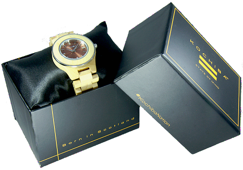Ladies Akira Maple Wood watch boxed