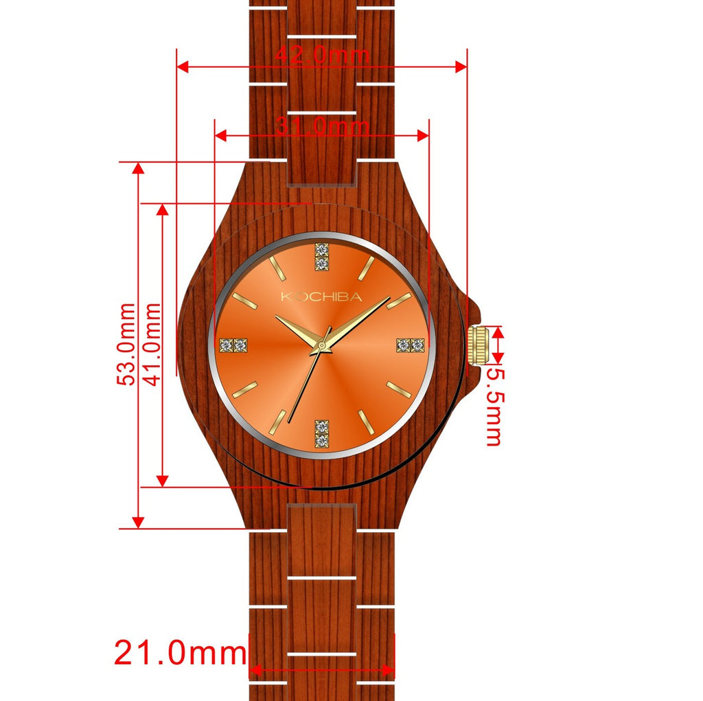 The Laro - Scarlet Orange on Red Sandalwood