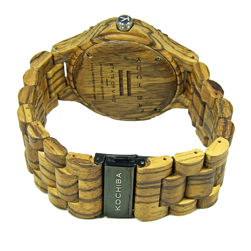 Chocolate face Zebrawood Tiree Wood Watch buckle