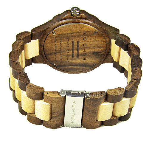 Charcoal Maple and sandalwood Torrin Wood Watch buckle
