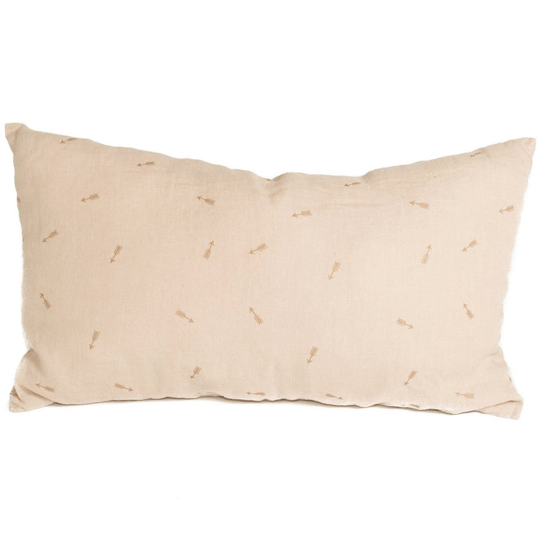 Organic linen Cushion, blush beige.