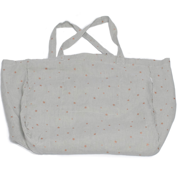minimuhuu • Tote bag, stars pearl grey • m_op.bag
