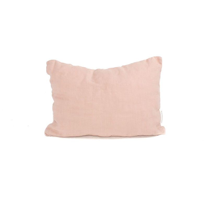 Organic Linen travel cushion,  sunset pink