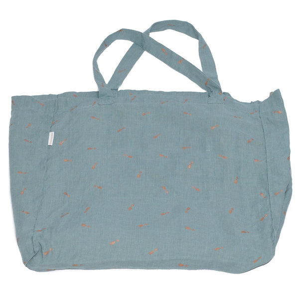 minimuhuu • Linen Tote bag, blue lagoon • m_op.bag