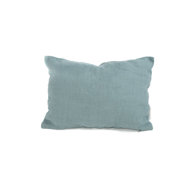 Linen travel cushions, blue lagoon