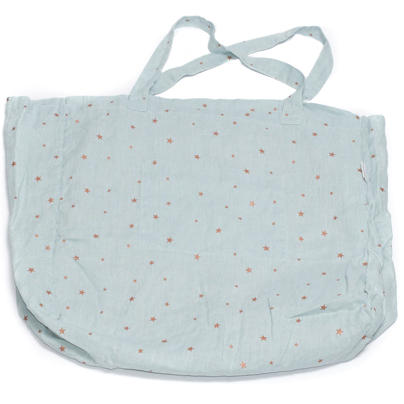 Tote bag, stars blue light