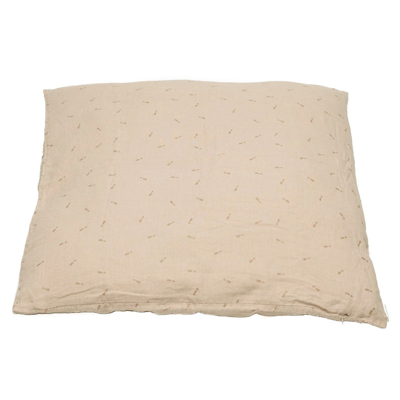 Large floor cushion cover, blush beige.