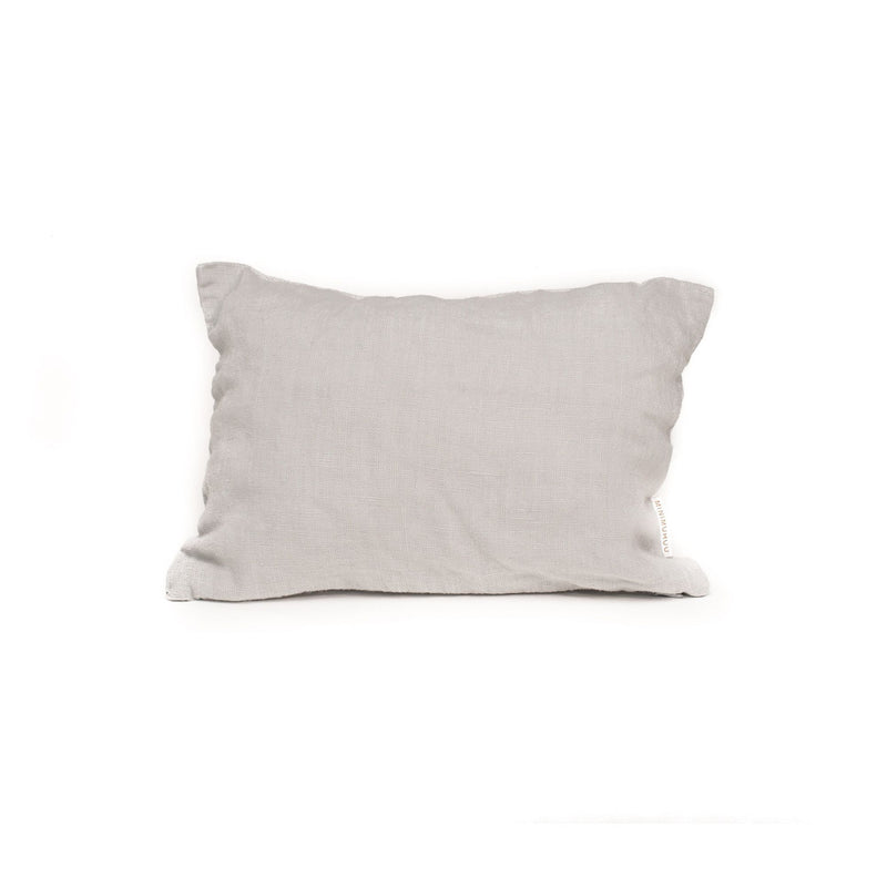 Travel linen cushions, pearl grey