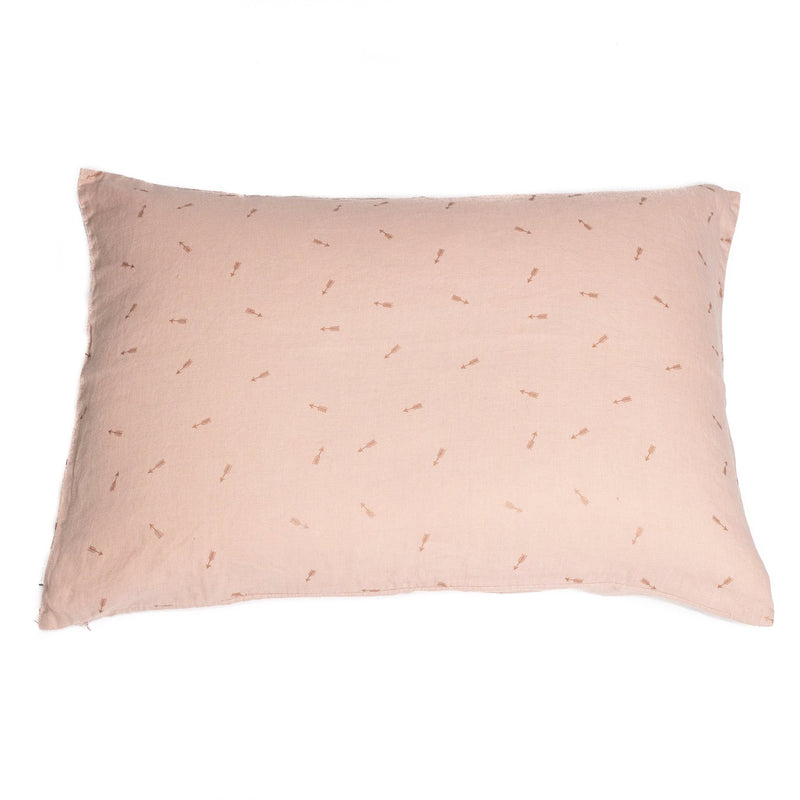 Pillow case, sunset pink