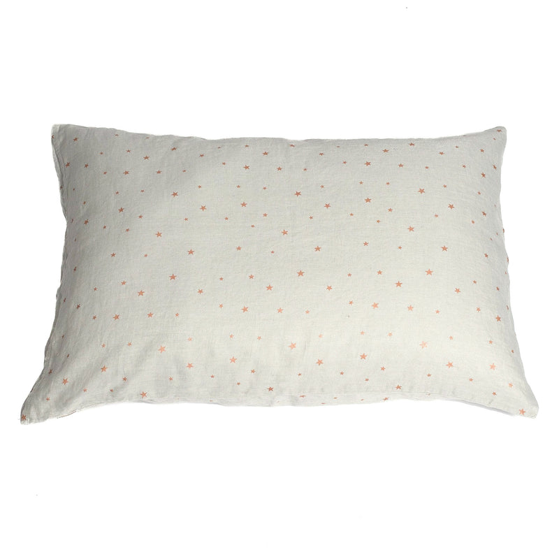 Pillow case, stars pearl grey