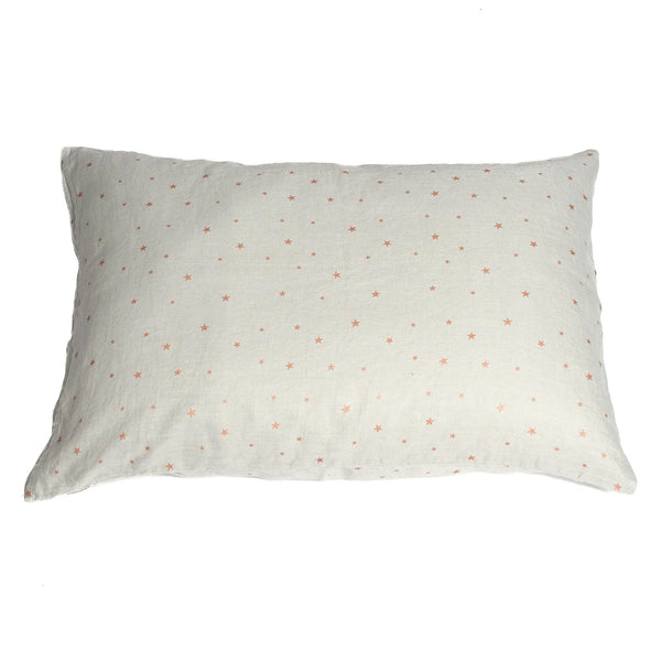 minimuhuu • Pillow case, stars pearl grey •