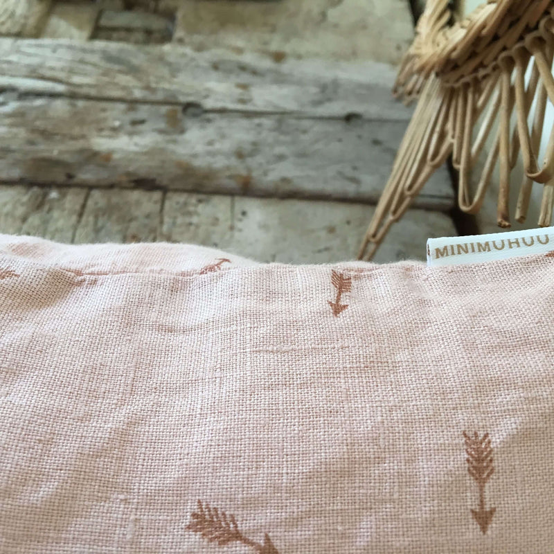 Linen Cushion, Sunset pink
