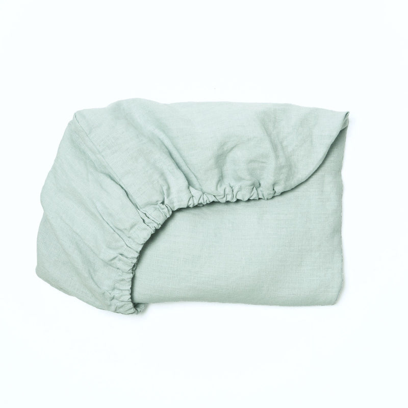 Organic Linen Crib Fitted Sheet