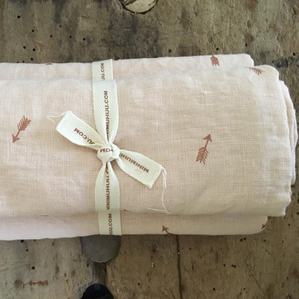 Organic linen swaddle blankets