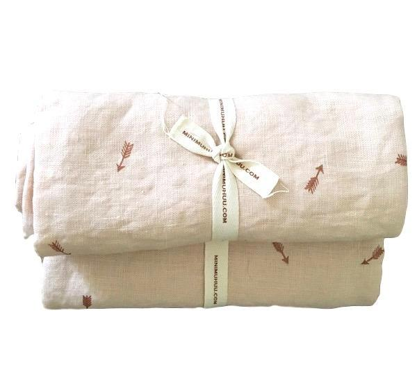 Organic linen swaddle blankets, NEW