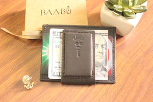Top pocket currency clip wallet made for Baabu