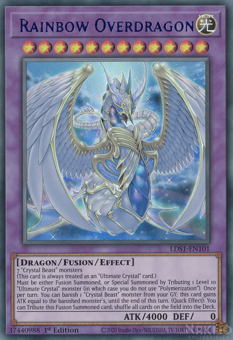 Rainbow Overdragon - LDS1-EN101 - Blue Ultra Rare - 1st Edition