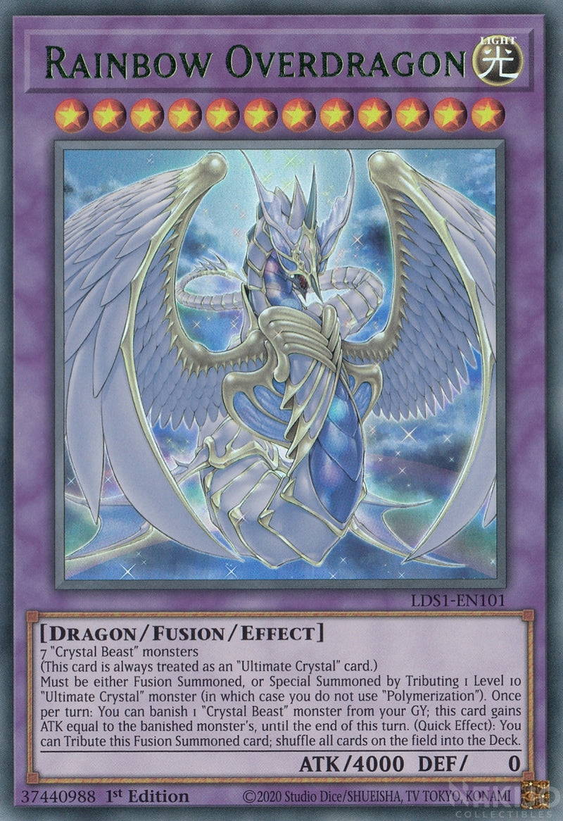 Rainbow Overdragon - LDS1-EN101 - Green Ultra Rare - 1st Edition