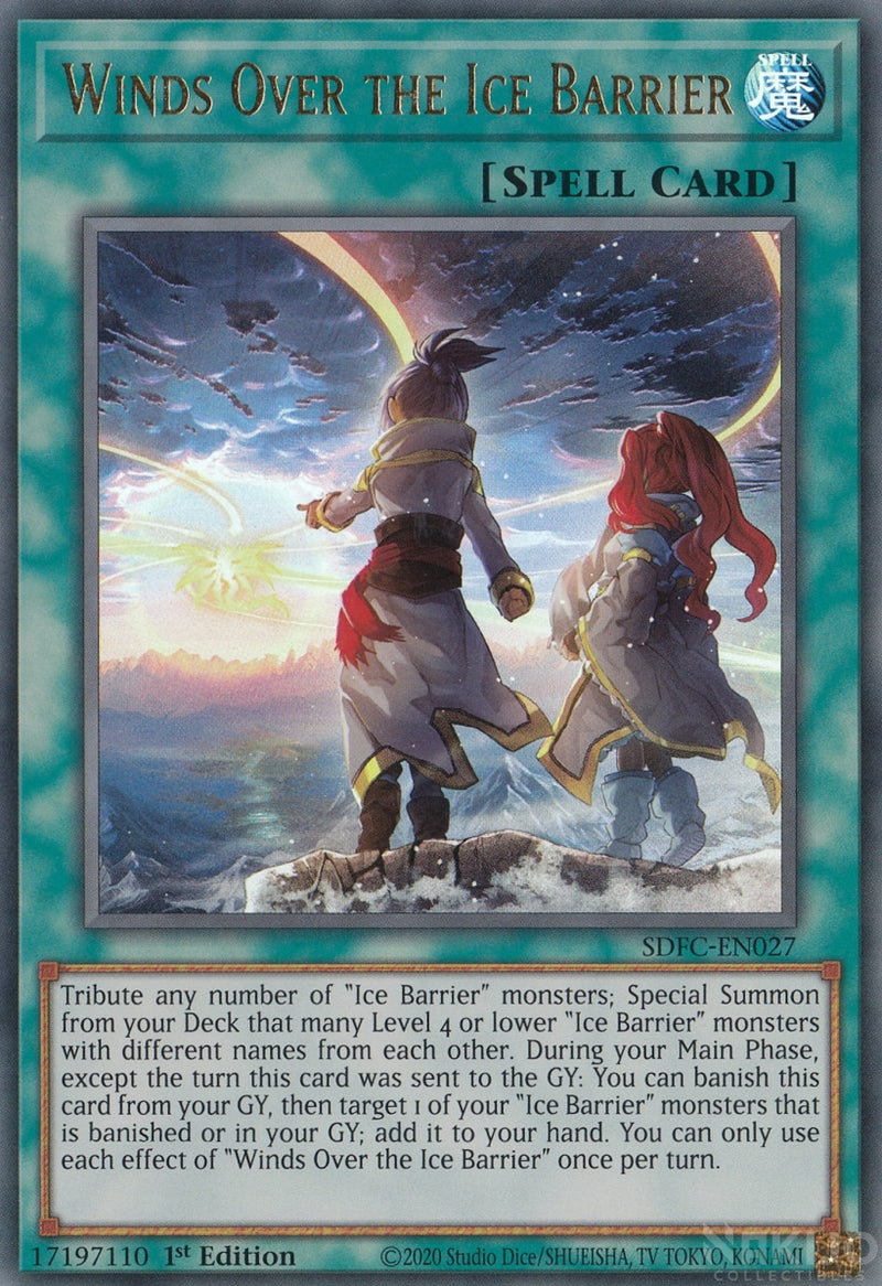 Winds Over the Ice Barrier - SDFC-EN027 - Ultra Rare - 1st Edition