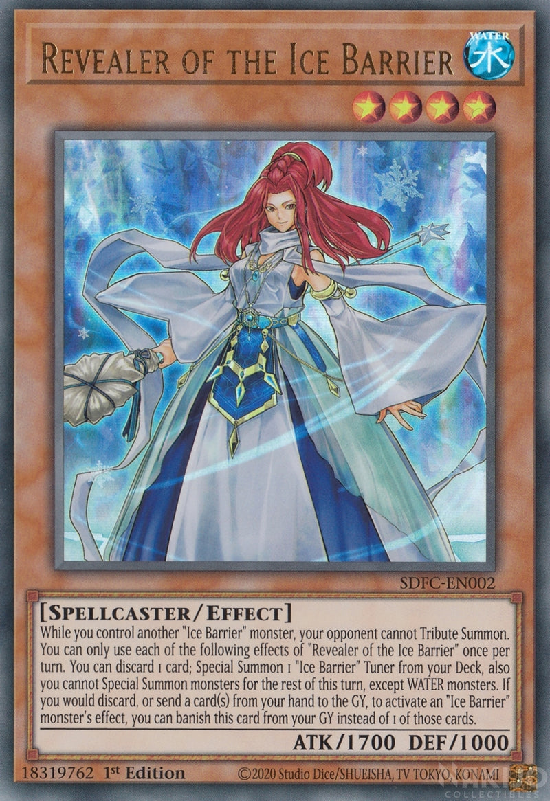 Revealer of the Ice Barrier - SDFC-EN002 - Ultra Rare - 1st Edition