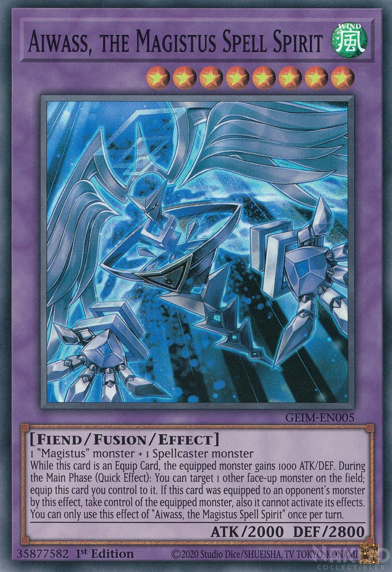 Aiwass, the Magistus Spell Spirit - GEIM-EN005 - Super Rare - 1st Edition