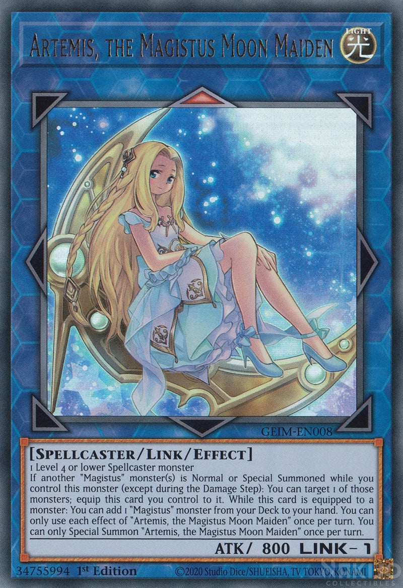 Artemis, the Magistus Moon Maiden - GEIM-EN008 - Ultra Rare - 1st Edition