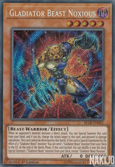 Gladiator Beast Noxious - BLLR-EN021 - Secret Rare - 1st Edition